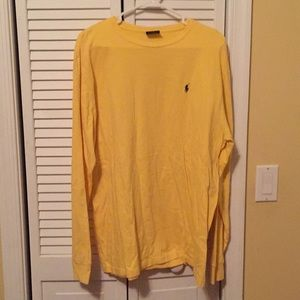 Polo by Ralph Lauren yellow long sleeve shirt